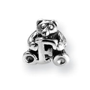 Sterling Silver Reflections Kids Letter F Bead