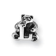 Sterling Silver Reflections Kids Letter L Bead