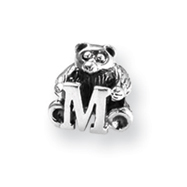 Sterling Silver Reflections Kids Letter M Bead