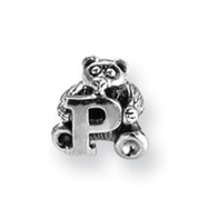 Sterling Silver Reflections Kids Letter P Bead