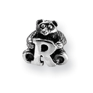 Sterling Silver Reflections Kids Letter R Bead