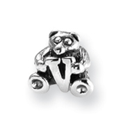 Sterling Silver Reflections Kids Letter V Bead