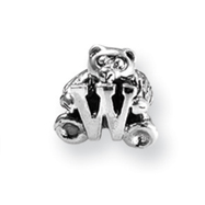 Sterling Silver Reflections Kids Letter W Bead