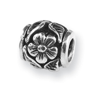 Sterling Silver Reflections Floral Bead