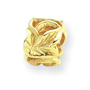 14k Gold Reflections Leaf Design Bead