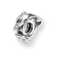 Sterling Silver Reflections 2 Dolphins Bead