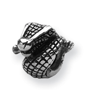 Sterling Silver Reflections Crocodile Bead