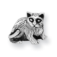 Sterling Silver Reflections Cat Bead
