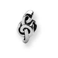 Sterling Silver Reflections Treble Clef Bead