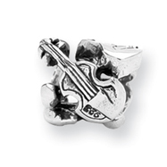 Sterling Silver Reflections Violin, Guitar & Saxophone Bead