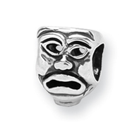 Sterling Silver Reflections Tragedy Mask Bead