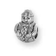 Sterling Silver Reflections Snowman Bead