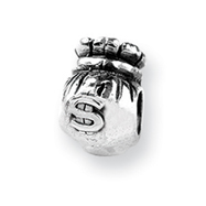 Sterling Silver Reflections Money Bag Bead