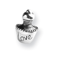 Sterling Silver Reflections Love Perfume Bottle Bead