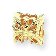 14K Gold Reflections Butterfly Bead