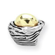 Sterling Silver & 14K Gold Reflections Birds Nest Bead