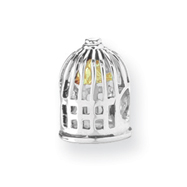 Sterling Silver & 14K Gold Reflections Bird Cage Bead