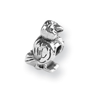 Sterling Silver Reflections Bird Bead