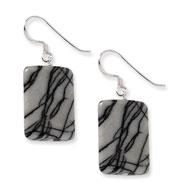 Sterling Silver Zebra Jasper Earrings