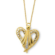 """Sterling Silver & Gold-plated Angel Of Friendship 18"""" Necklace"""