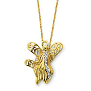 "Sterling Silver & Gold-plated Angel Of Motherhood 18"" Necklace"