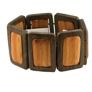 Natural Hamba Wood Stretch Bracelet