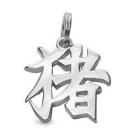 "Sterling Silver ""Boar"" Kanji Chinese Symbol Charm"
