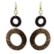 """Gold-tone & Coconut 3.5"""" Dangle Earrings"""