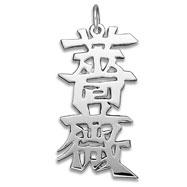 "Sterling Silver ""Rose"" Kanji Chinese Symbol Charm"