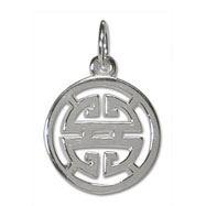"Sterling Silver ""Sho"" Kanji Chinese Symbol Charm"