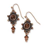 Copper-tone Colorado Crystal Dangle Earrings