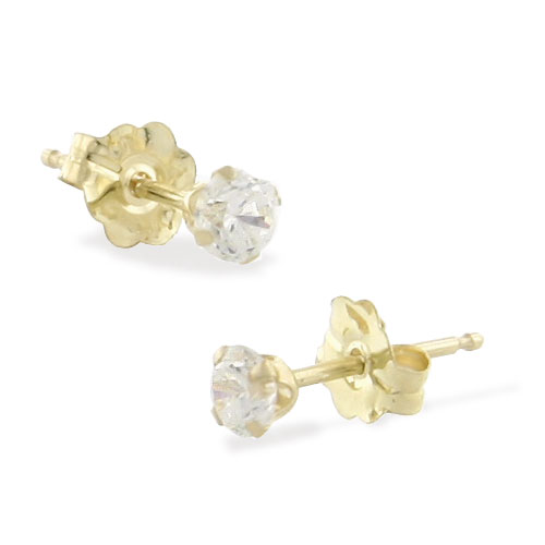 14K 3mm CZ Round Studs. Price: $59.70