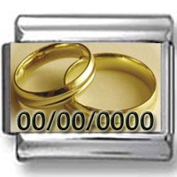 Custom Wedding Rings Photo Charm
