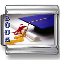 Graduation 2006 Cap & Diploma Photo Charm