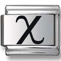 Chi Greek Alphabet Laser Charm