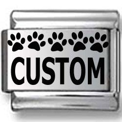 Custom Dog Prints Laser Charm