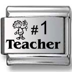 #1 Teacher Laser Charm