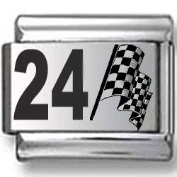 #24 Nascar Laser Charm