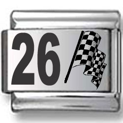 #26 Nascar Laser Charm