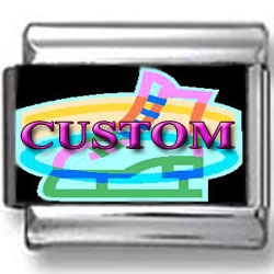 Custom Neon Glow Ice Skating Photo Charm