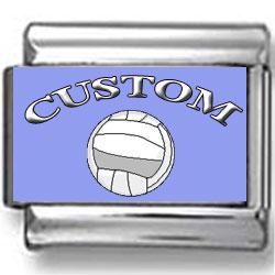 Custom Volleyball Photo Charm