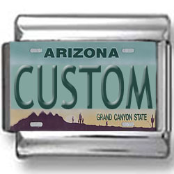 Arizona License Plate Custom Charm