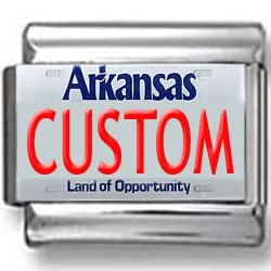 Arkansas License Plate Custom Charm