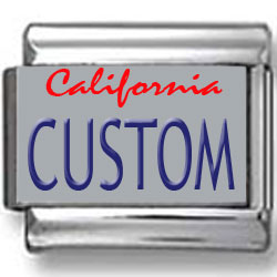 California License Plate Custom Charm