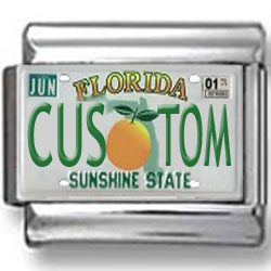 Florida License Plate Custom Charm