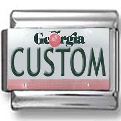 Georgia License Plate Custom Charm