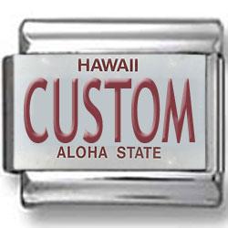 Hawaii License Plate Custom Charm