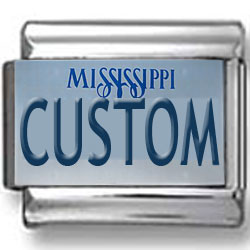 Mississippi License Plate Custom Charm 2