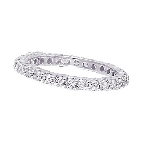 14K White Gold 1.07ct Diamond Eternity Band Wedding Ring SI1-SI2 G-H. Price: $1609.92