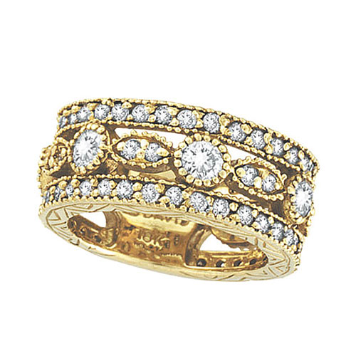 18K Yellow Gold 2.15ct Diamond Eternity Ring Band SI1-SI2 G-H. Price: $4406.40